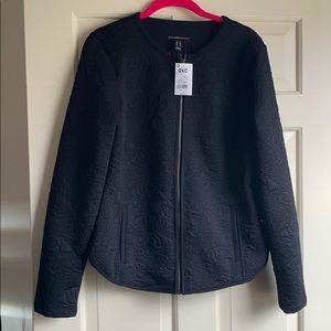 Black patterned lightweight jacket